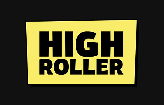 Ein Bild des High Roller Casino Logo