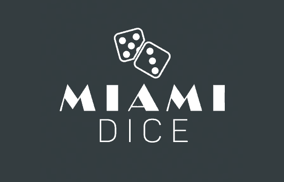 An image of the miami dice casino logo