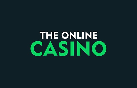 Image of The Online Casino with dark background and white and green writing