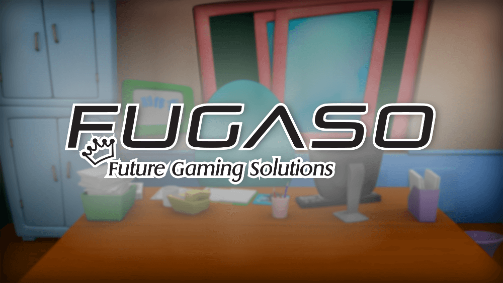 An image of the fugaso logo on a fugaso background